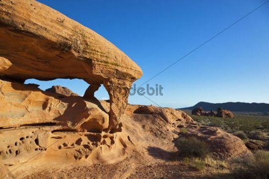 Piano, rock formation, Valley of Fire State Park, Nevada, America, United States