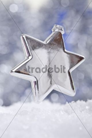 Christmas star in snow