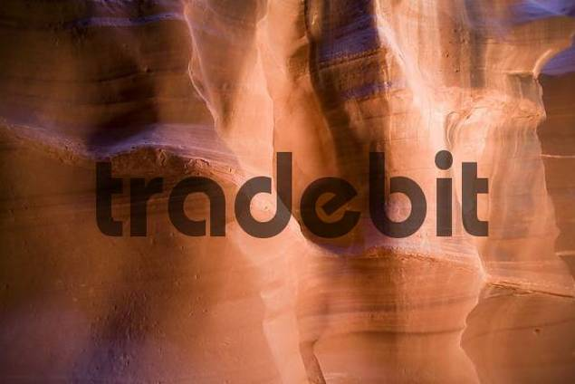 Sandstone interior of Upper Antelope Canyon, Navajo Nation Reservation, Arizona, USA