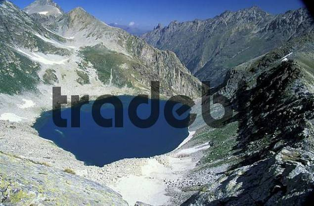 Caucasus, mountain lake, Teberdinskiy National Park, Russia