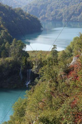 Lake Milanovac and Lake Kozjak, Plitvice Lakes National Park, Plitvice Jezera, Croatia, Europe
