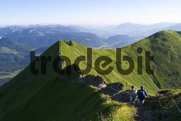 ridge Fellhorn Allgaeu Alps - Germany Austria