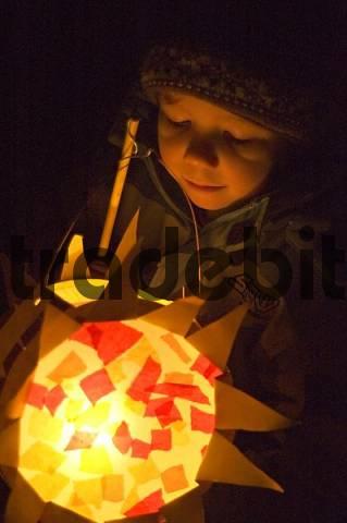 S. Martin parade children festival custom in autum lantern parade
