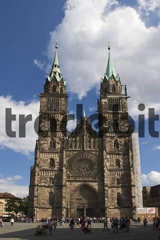 St. Lorenz Church in Nürnberg - Franconia Bavaria Germany