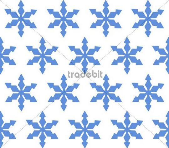 Snowflakes, patterns, background, illustration, full frame