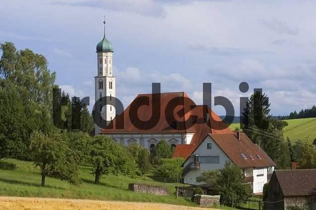 Violau district of Augsburg Swabia Bavaria Germany parish and pilgrimage church S. Michael