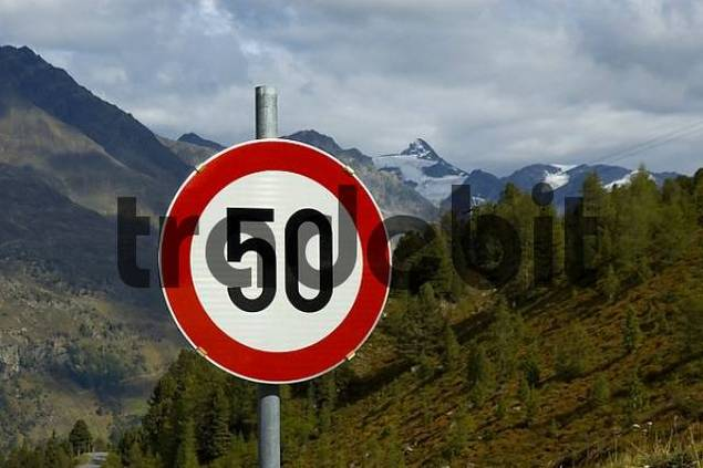 Traffic sign, Limit speed 50 kilometer
