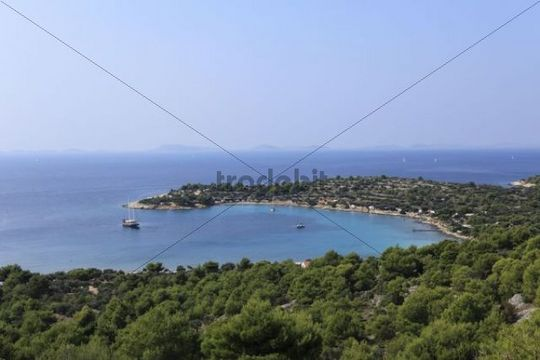Kosirina Bay, Murter island, Dalmatia, Adriatic Sea, Croatia, Europe