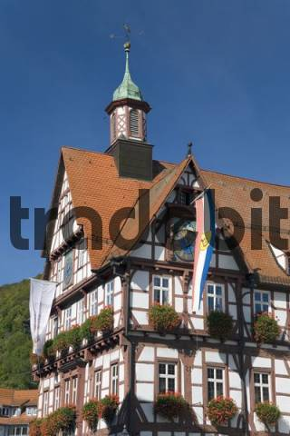 the townhall of Bad Urach, Baden-Wuerttemberg, Germany
