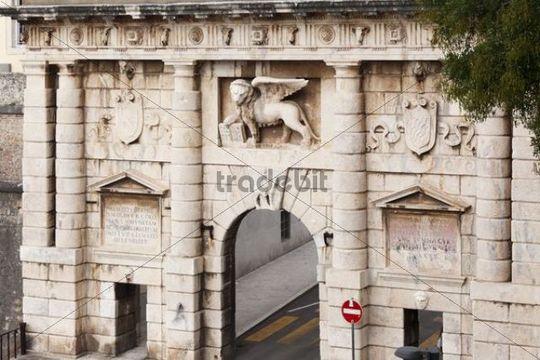 Land Gate, Porta Terraferma, Zadar, Dalmatia, Croatia, Europe