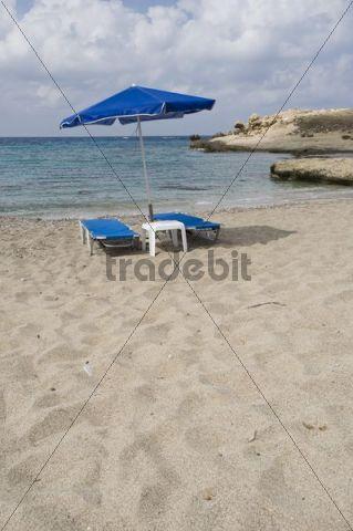 Beach in Lefkos, Karpathos island, Aegean Islands, Aegean Sea, Dodecanese, Greece, Europe