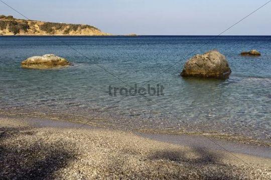 Beach Agios Nikolaos at Spoa, Karpathos island, Aegean Islands, Aegean Sea, Dodecanese, Greece, Europe