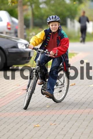 child with bicyles