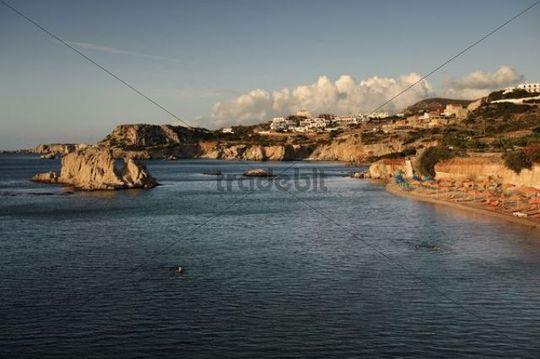 Amopi early in the morning, island of Karpathos, Aegean Islands, Aegean Sea, Greece, Europe