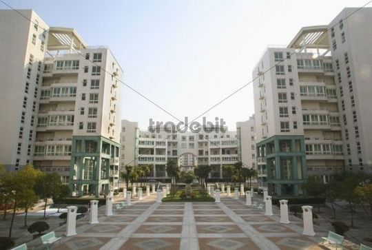 Residential district, Shanghai, China, Asia