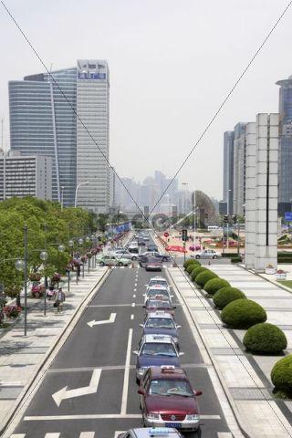 Cityscape, traffic, Shanghai, China, Asia