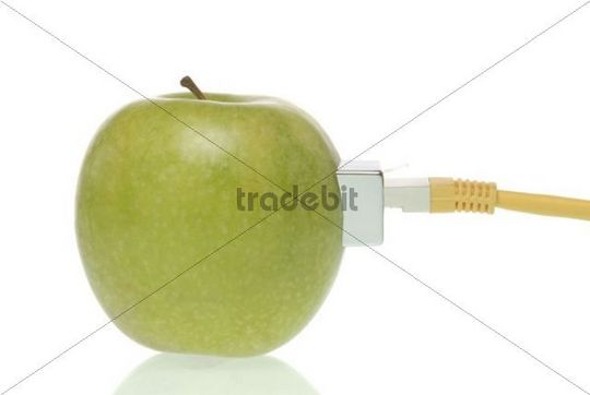 Apple with Lan-cable