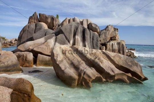 Huge granite rocks, La Digue island, Seychelles, Africa, Indian Ocean