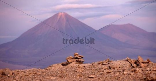 Atacama desert with volcano, Chile, South America