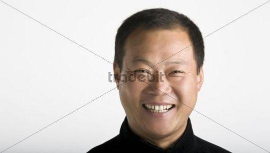 Portrait of the Chinese Taiji Master Cheng Lijun, laughing