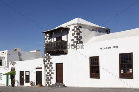 Palacio Ico, Palais Ico, Teguise, Lanzarote, Kanarische Inseln, Kanaren, Spanien, Europa
