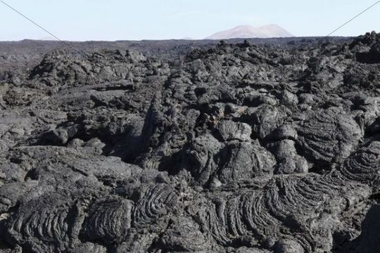 Sea of lava in Timanfaya National Park, Lanzarote, Canary Islands, Spain, Europe
