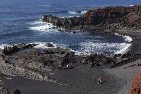 Playa de los Ciclos, El Golfo, Lanzarote, Canary Islands, Spain, Europe