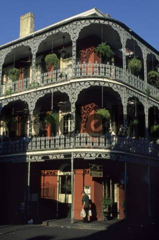 typical house at French Quarter, New Orleans