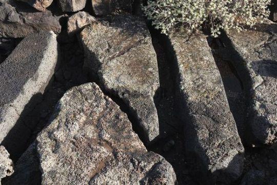 Archaeological site, Quesera de Bravo near Arrieta, Lanzarote, Canary Islands, Spain, Europe
