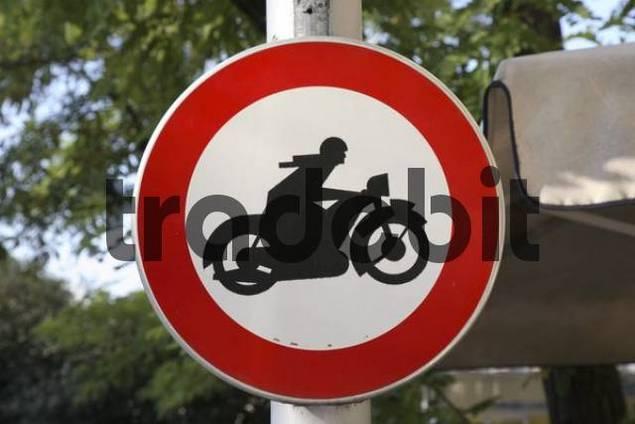 traffic sign - motorcycles forbidden