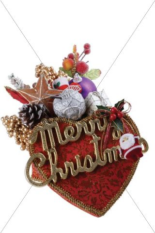Christmas decoration, lettering Merry Christmas