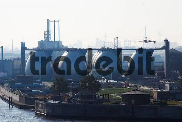 Sewage cleaning at Hamburg harbour, Hamburg, Germany
