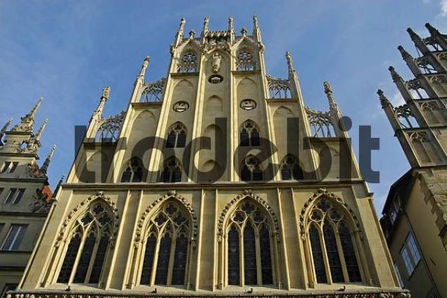 town hall, Muenster, North Rhine-Westphalia, Germany