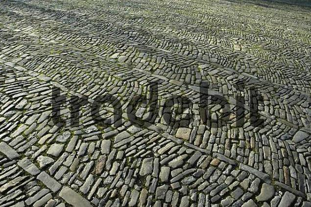 cobblestone, Muenster, North Rhine-Westphalia, Germany