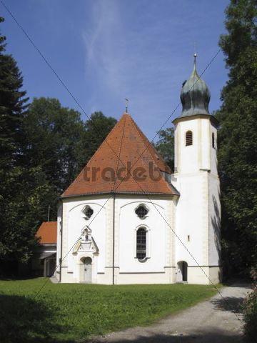 Maria Elend pilgrimage church in Dietramszell, Upper Bavaria, Bavaria, Germany, Europe