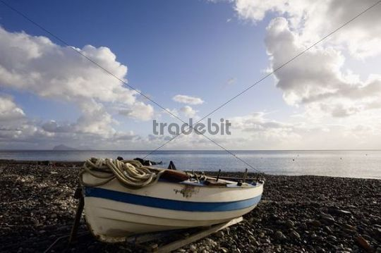 Canneto on Lipari at sunrise, Isola Eolie, Sicily, Italy, Europe