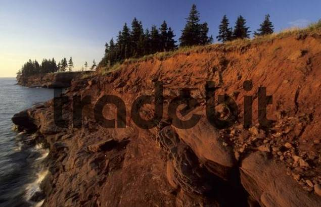 coastal cliff at Seacow Point, Prince Edward Island