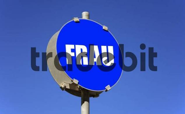 Symbolic photo - traffic sign - woman