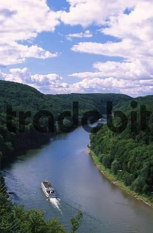 Donaudurchbruch Danube River Kelheim Bavaria Germany
