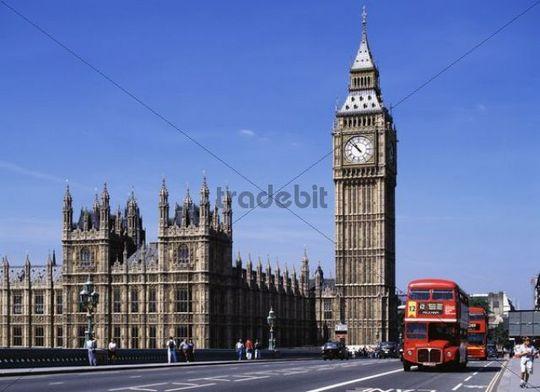 Big Ben and Westminster Bridge, London, England, United Kingdom, Europe