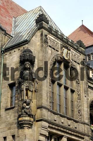 Roland statue, Chemnitz, Saxony, Germany