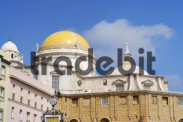 Cadiz Andalusia Spain cupolas of the cathedral