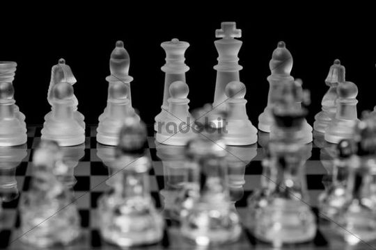 Chess, made of glass