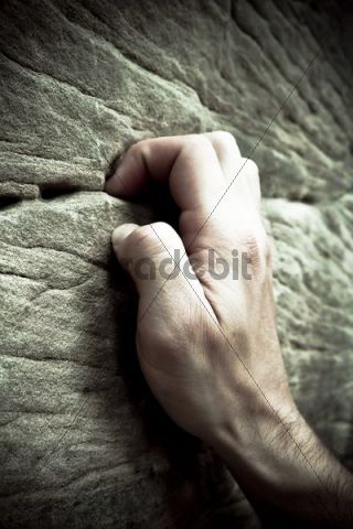 Hand of a climber, detail