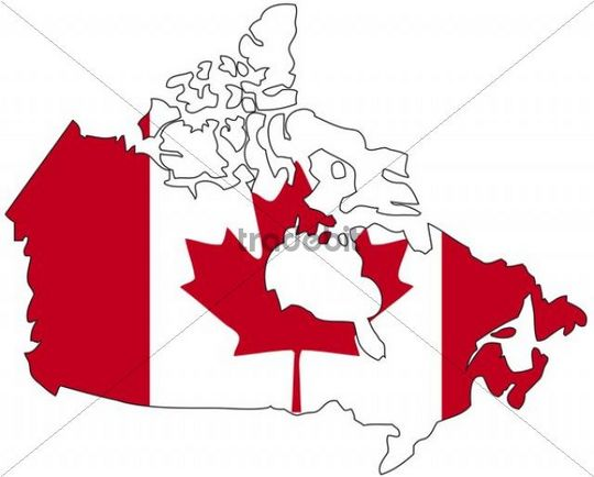 Kanada, Flagge, Umriss