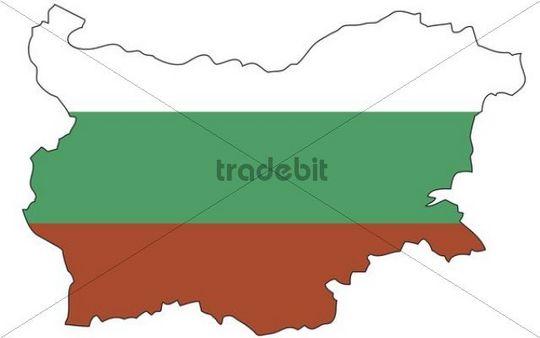 Bulgaria, flag, outline