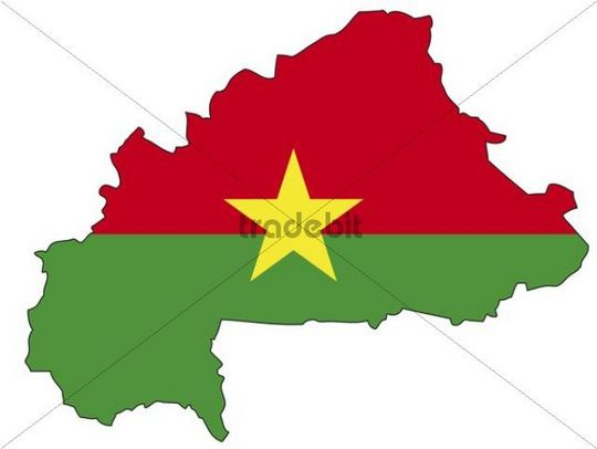 Burkina Faso, flag, outline
