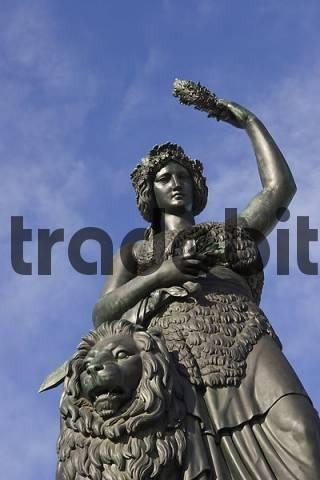 Bavaria bronze statue Patrona Bavariae Munich Bavaria Germany