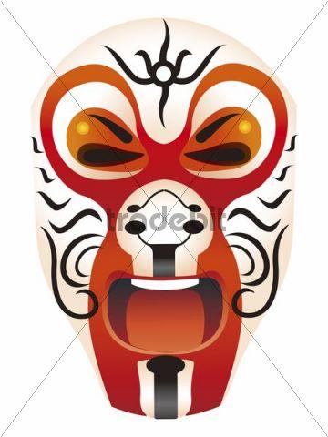 Illustration, Chinese mask