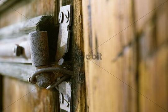 Detail, barn with stables in Grisons, Switzerland, Europe